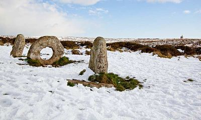 Men an Tol under snow
