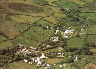 Aerial view of New Mill about 1991