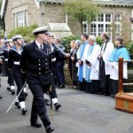 Captain Entwisle taking the Salute at the march past
